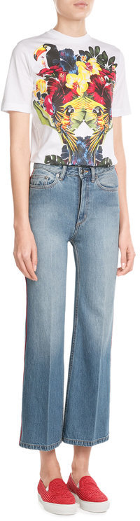 Marc By Marc JacobsMarc by Marc Jacobs Cropped Wide Leg Jeans