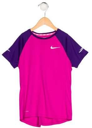 Nike Girls' Knit Short Sleeve Top