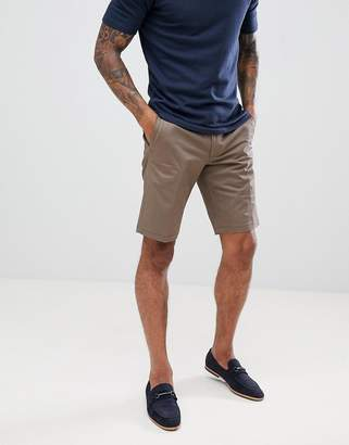 HUGO Slim Fit Chino Shorts In Khaki