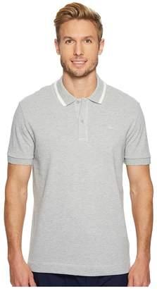 Lacoste Short Sleeve Petit Pique w/ Tonal Crock Regular Men's Short Sleeve Pullover