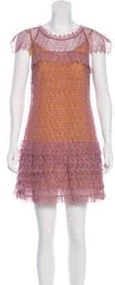 Marissa Webb Embroidered Mini Dress