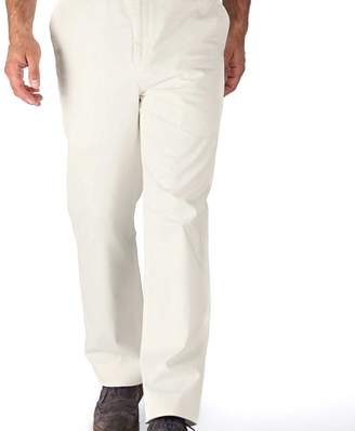 Charles Tyrwhitt White classic fit flat front washed chinos