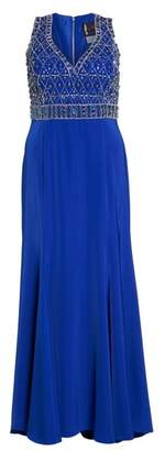 Mac Duggal Crystal Embellished Ballgown