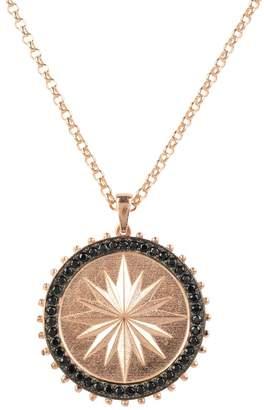 Rosegold Latelita - Reversible Moral Compass Star Burst Pendant Necklace