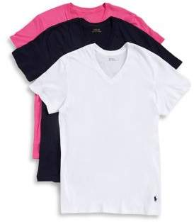 Polo Ralph Lauren Three-Pack Classic Fit V-Neck Tees