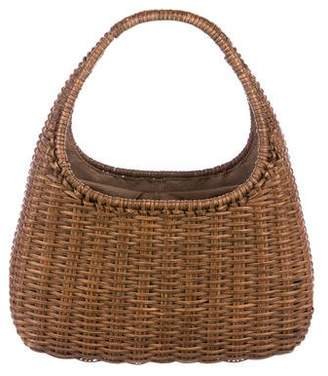 Salvatore Ferragamo Wicker Basket Tote
