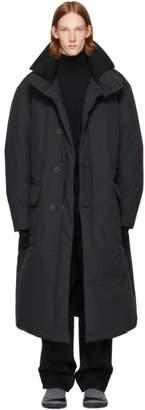 Issey Miyake Black Down Washer Coat