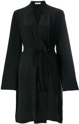 Equipment tassel belted dress