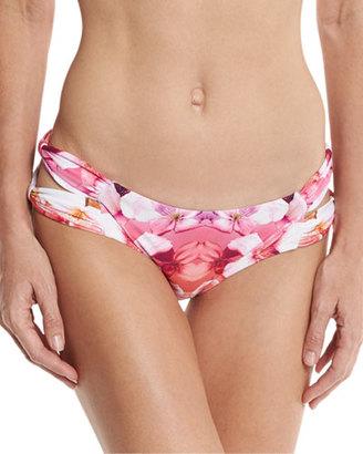 6 Shore Road by Pooja Soho Floral-Print Strappy Swim Bottom, Cartagena Floral $88 thestylecure.com