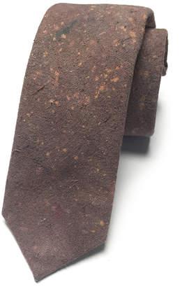 Kathrine Zeren Speckled Mauve Skinny Tie