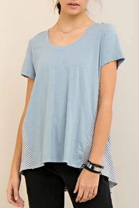 Entro High Low Stripe Tee