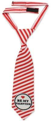 "Tiny Treasures ""Be My Valentine"" Neck Tie in Red/White"