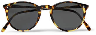 Oliver Peoples O'malley Round-Frame Tortoiseshell Acetate Polarised Sunglasses