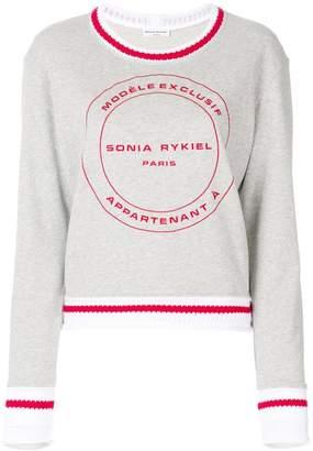 Sonia Rykiel logo print sweatshirt