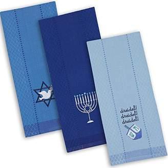 DII Cotton Hanukkah Holiday Dish Towels