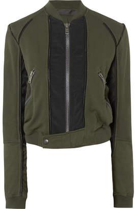 Haider Ackermann Cotton-jersey Bomber Jacket - Army green