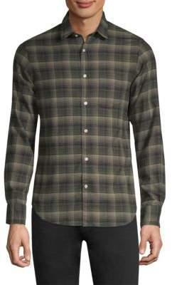 Officine Generale Plaid Cotton Flannel Button-Down Shirt