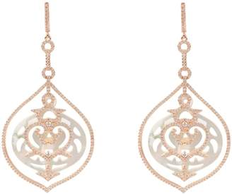 Rosegold Latelita Large Carved Pearl Earring