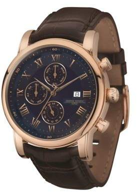 Jorg Gray Jg7600-33 The Aristocrat Rose Gold Leather Strap Stainless Steel Case