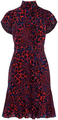 Karen Millen Ruffle Leopard Blouson Dress