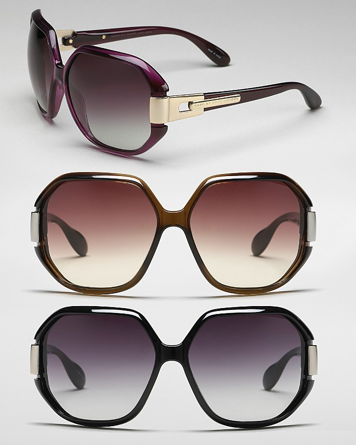 MARC BY MARC JACOBS Oversized Hinge Sunglasses with Logo