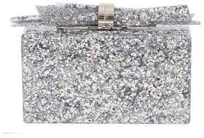Edie Parker Wolf Shard Marbled Resin Clutch Bag