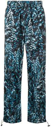 Palm Angels pine camouflage print trousers