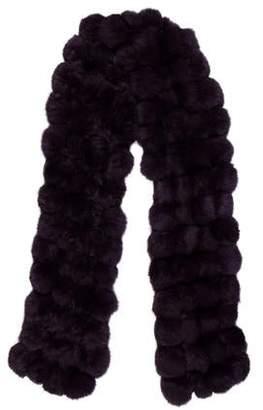 Fur Pom-Pom Scarf