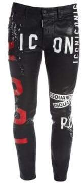 DSQUARED2 Skater Icon Coated Skinny Jeans
