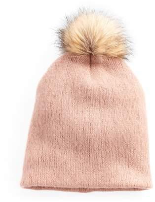 Apt. 9 Women's Solid Brushed Knit Pom Pom Beanie