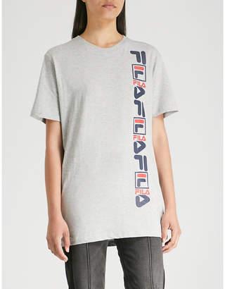 Fila Vertical logo-print cotton T-shirt