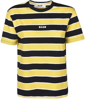 181f34d2a18680 Yellow Blue Striped T-shirt - ShopStyle UK