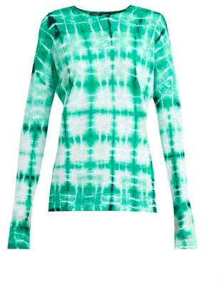 Proenza Schouler Tie Dye Long Sleeved Cotton T Shirt - Womens - Blue Multi