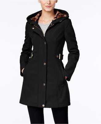 Via Spiga Petite Hooded Softshell Raincoat