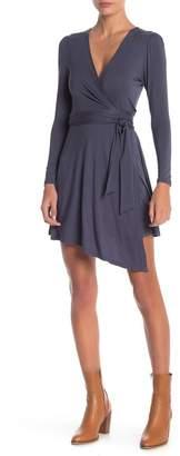 Anama Solid Knit Wrap Dress