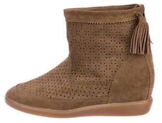 Isabel Marant Laser Cut Suede Boots