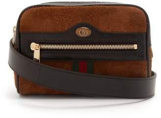 Gucci Ophidia Small Box Vintage Gg Logo Belt Bag - Womens - Tan Multi