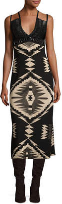 Ralph Lauren Collection Southwestern Jacquard Cami Gown, Black Pattern $3,990 thestylecure.com