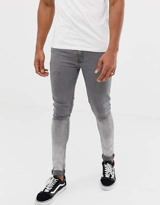 Ringspun skinny fit ombre jeans