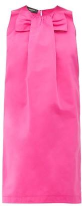 Rochas Piastra Radsmir Bow Front Satin Dress - Womens - Fuchsia