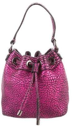 Milly Metallic Pebbled Leather Crossbody Bag