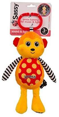 Sassy Sound and Light Attachable Monkey Toy by