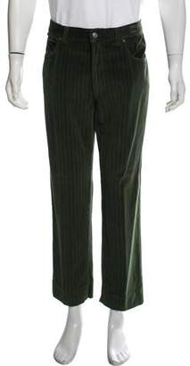 Versace Striped Velour Casual Pants