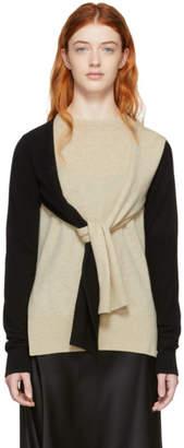 Loewe Beige and Black Cashmere Shoulder Sleeve Sweater