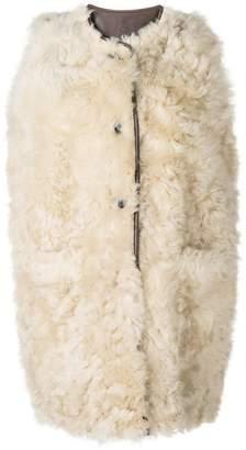Marni furry sleeveless coat