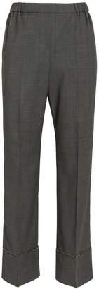No.21 No. 21 Bead Trim Cuffed Trousers