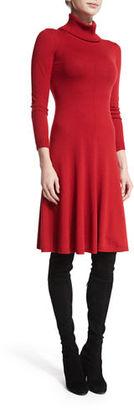 Lafayette 148 New York Long-Sleeve Merino Turtleneck Dress $498 thestylecure.com
