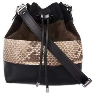 Proenza Schouler Python-Trimmed Medium Bucket Bag Black Python-Trimmed Medium Bucket Bag