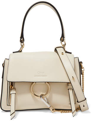 Chloé Faye Day Mini Textured-leather Shoulder Bag - Off-white