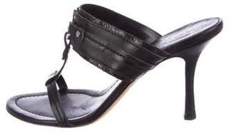 Christian Dior Leather Slide Sandals